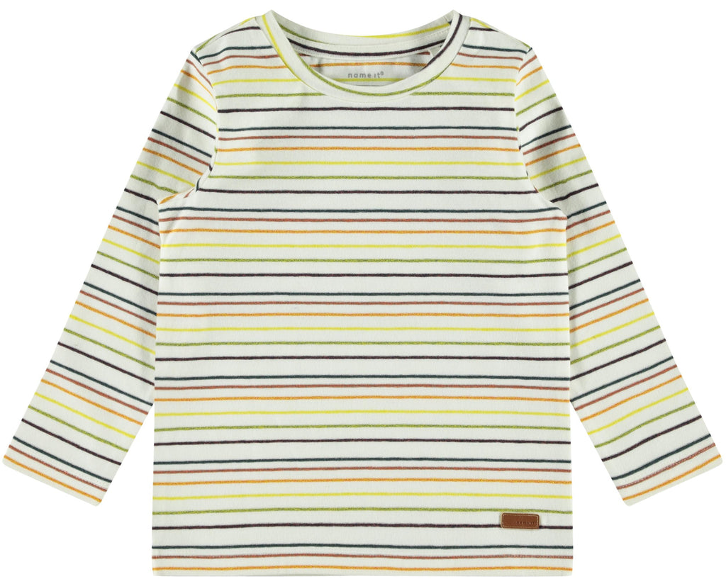 Sohr Long-sleeved White Stripe Boy's T-shirt