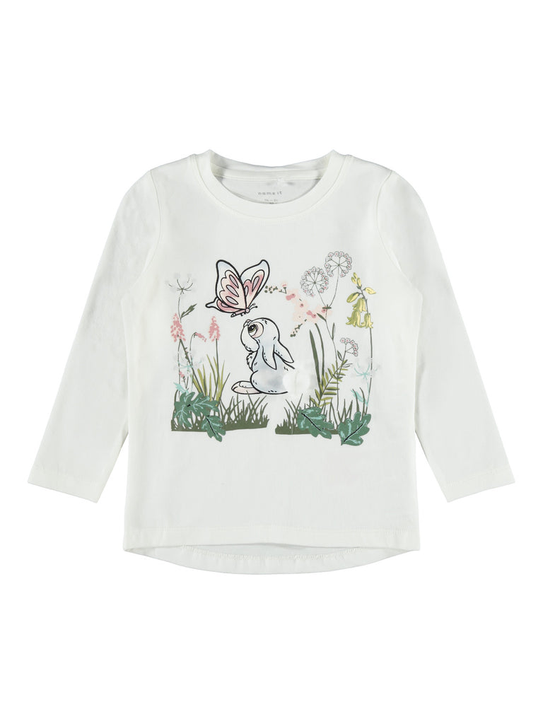 Bambi Naja Long Sleeve Top white]