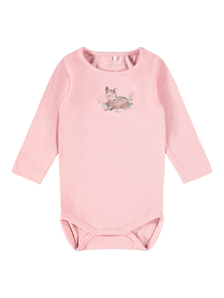 Oda Long Sleeve Bodysuit pink