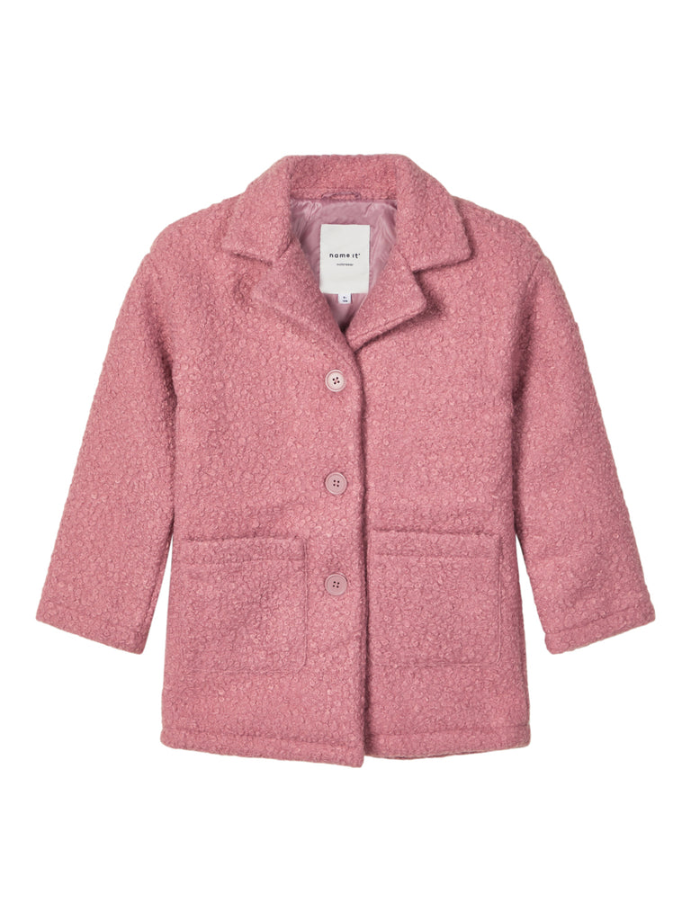 Morah Pink Padded Teddy Coat