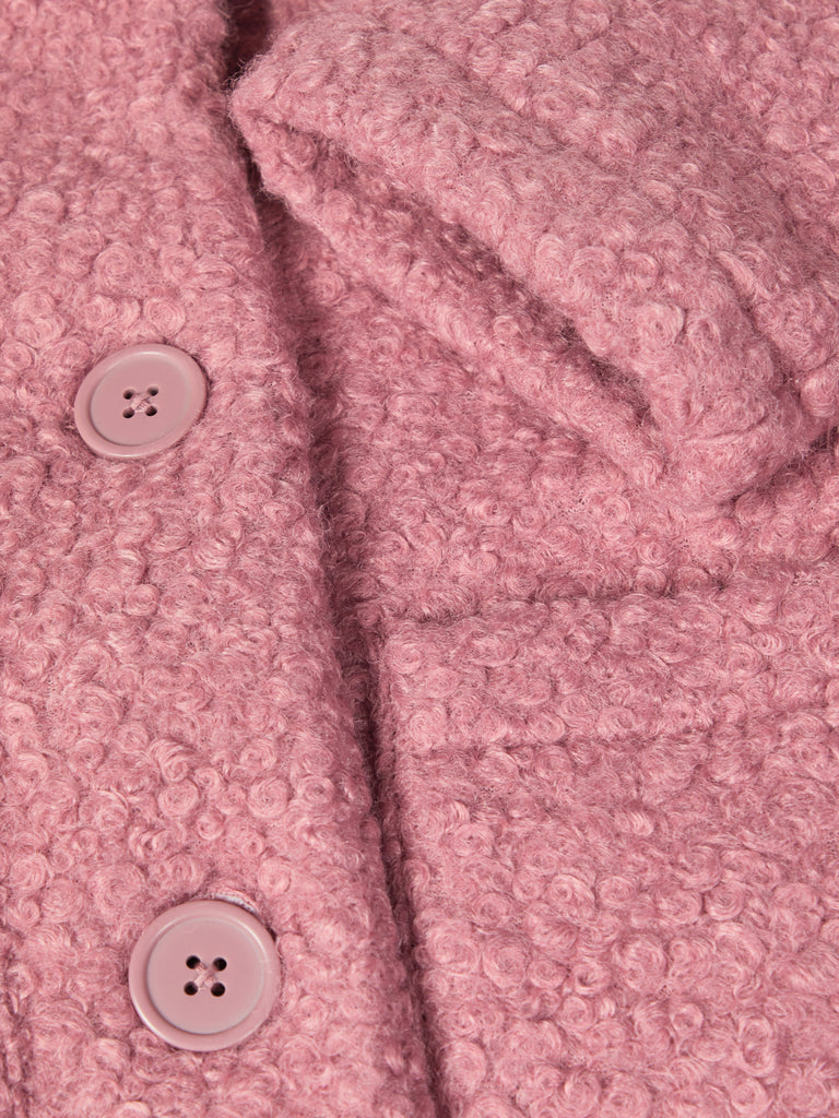 Morah Pink Padded Teddy Coat detail