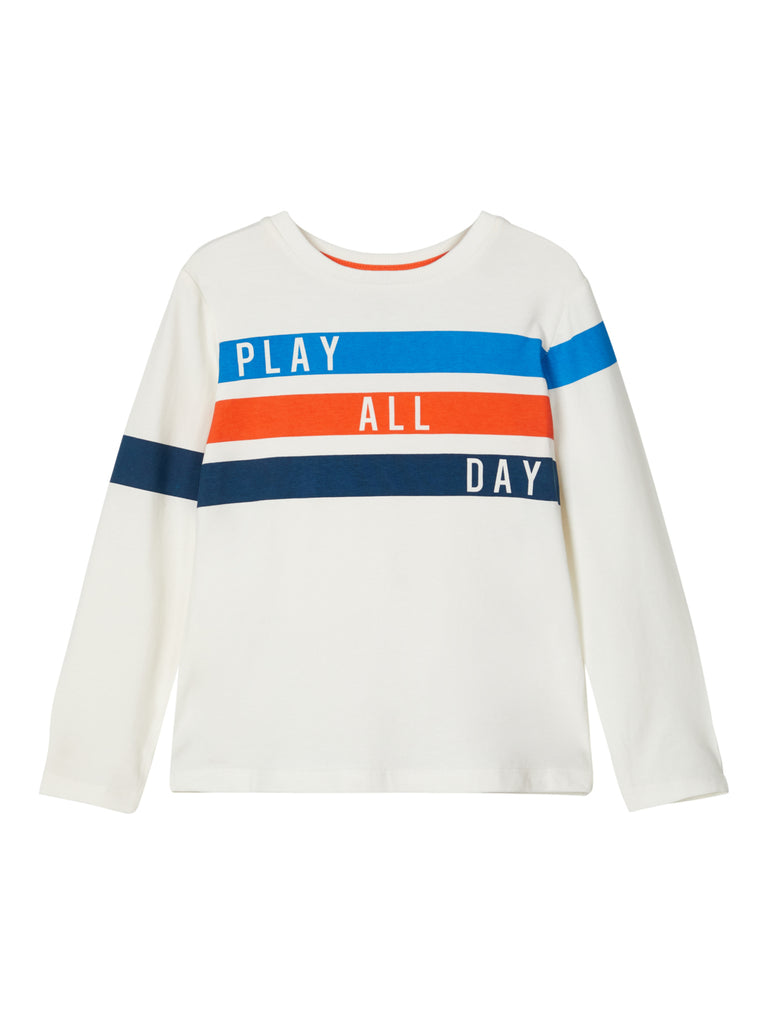 Leon Long Sleeve Top wht