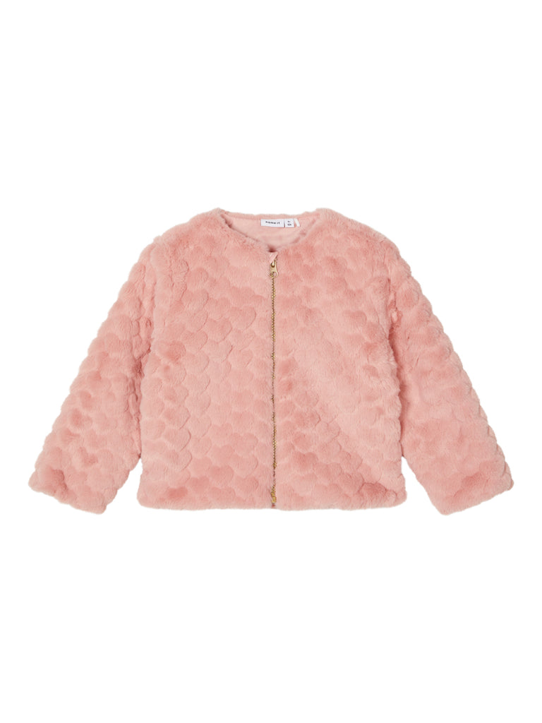 Rola Faux Fur Jacket rose