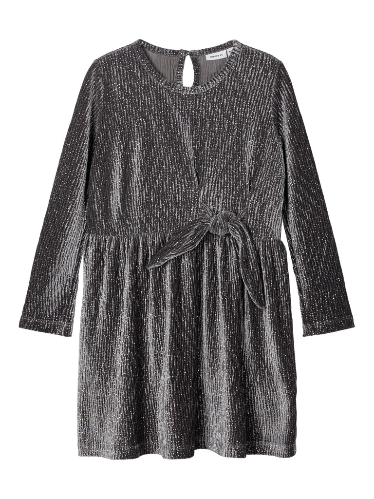 Robisa Long Sleeve Velour Dress