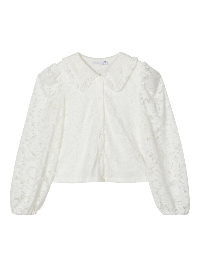 Rydia Long Sleeve Short Shirt wht