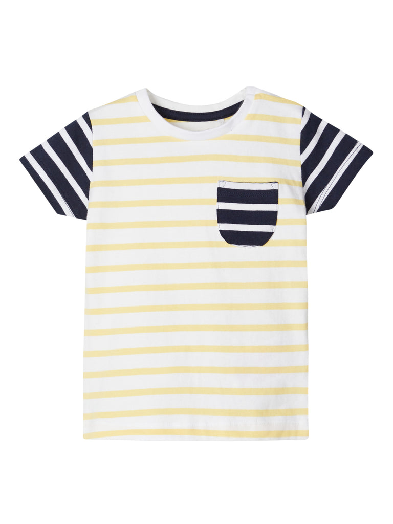 Hetik Short Sleeve Yellow Stripe Newborn Tee