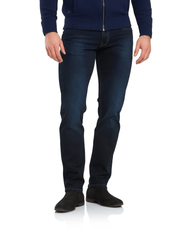 Men's Nevada Blue Black Stretch Straight Leg Jeans by 6th Sense