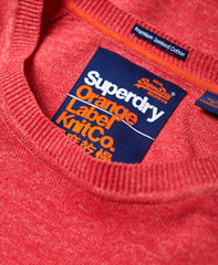 Orange Label Cotton Crew Cannery Red Grit - Neck