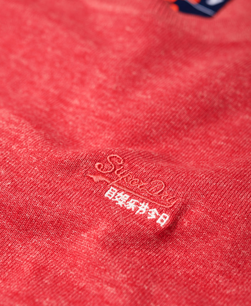 Orange Label Cotton Crew Cannery Red Grit - Logo