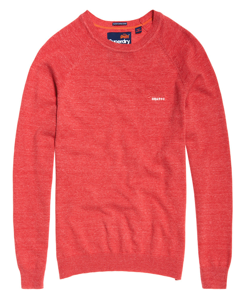 Orange Label Cotton Crew Cannery Red Grit - Front