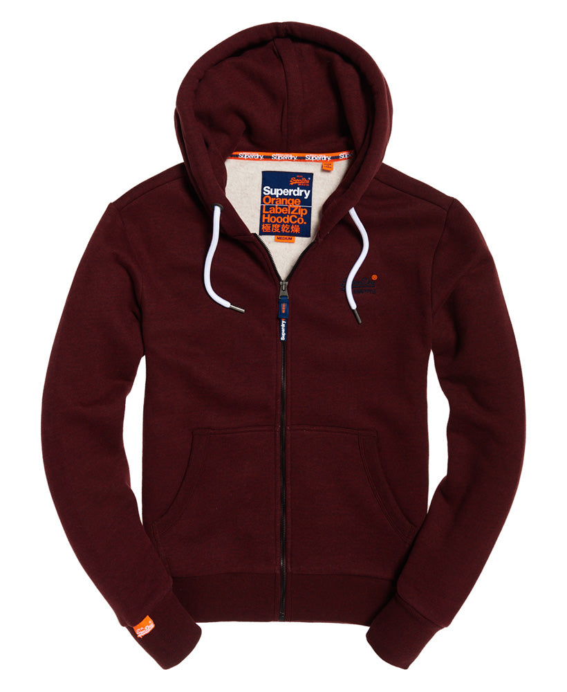 Orange label classic ziphood Buck Burgundy Marl