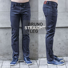 Outrage 5 Pocket Bruno Tapered Fit Chino Grey