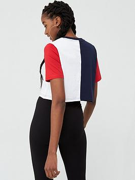 Prudence Cutsew Navy/White/Red Crop Tee