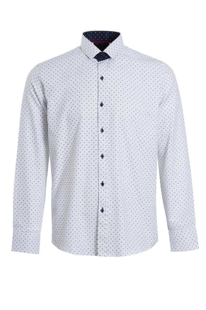 Swade PSH752 Long Sleeve Printed Slim Fit Shirt