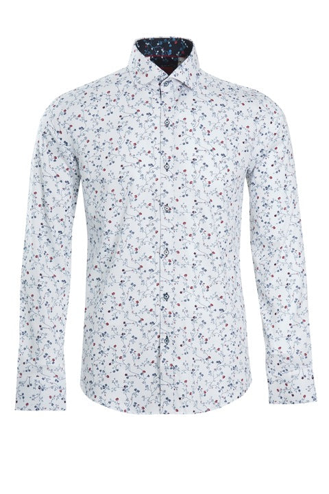 All Over Floral Print Slim Fit Shirt by Swade.