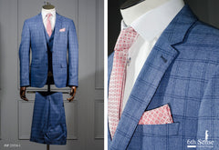 Pele 3 Piece Blue Suit by 6th Sense