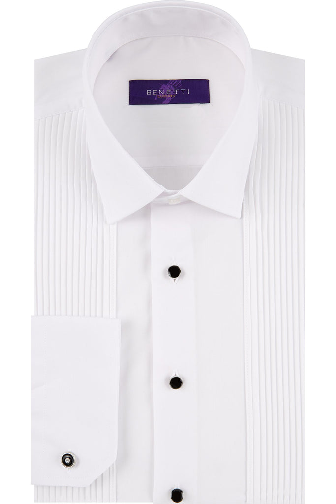 Pleated Comfort Fit Tux Shirt