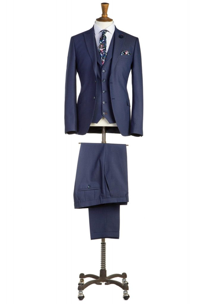 Ronnie Navy Three Piece Suit by Benetti