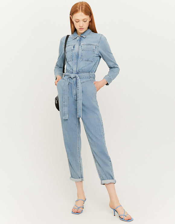 Womens Utility Blue  Denim  Jumpsuit