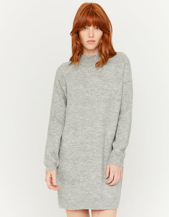 Women's Grey Knitted Dress