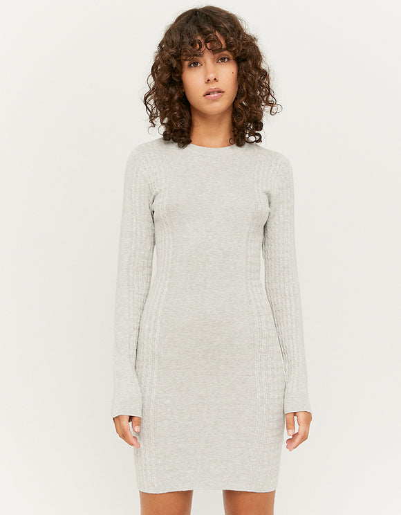 Women's Grey Cable Knit Dress