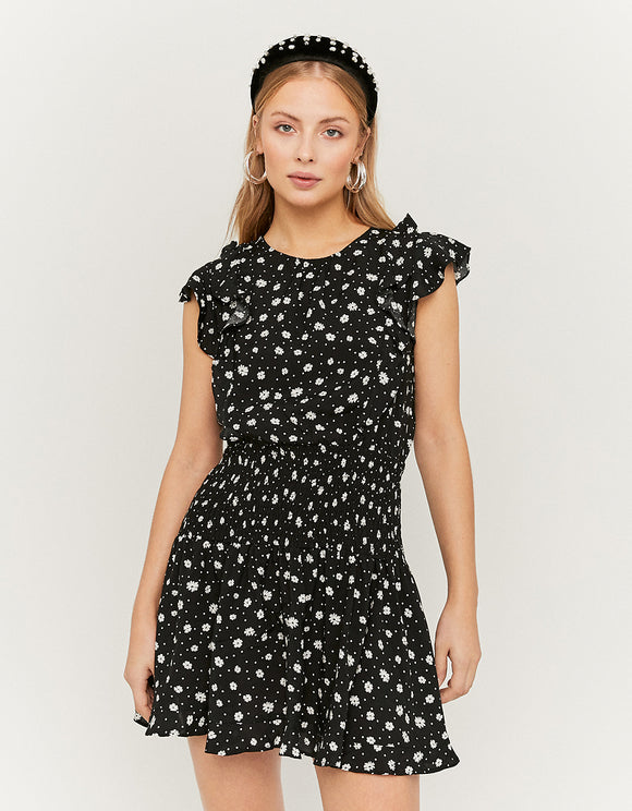 Black Floral Drop Waist Women's Dress by Tally Weijl