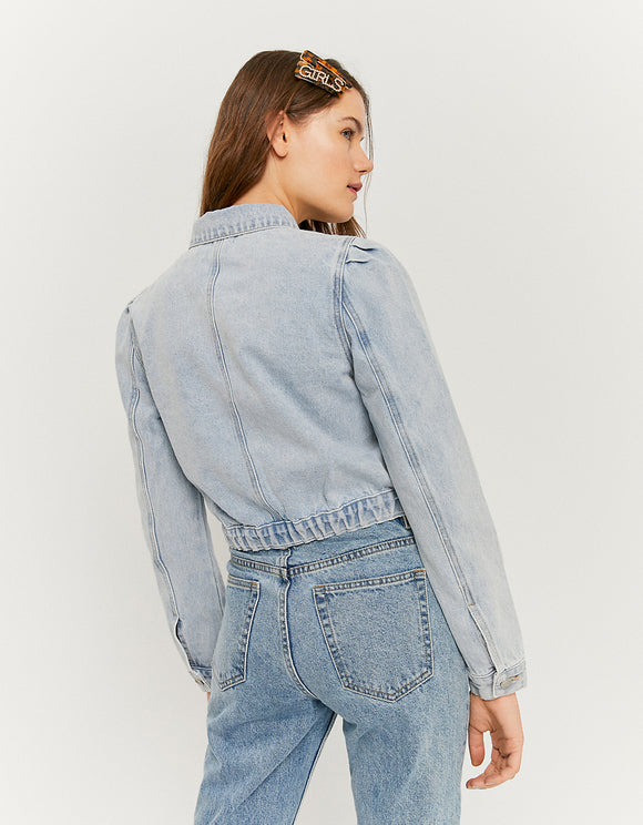 Women's puff sleeve denim jacket by Tally Weijl