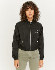 Women's Black Windbreaker Jacket