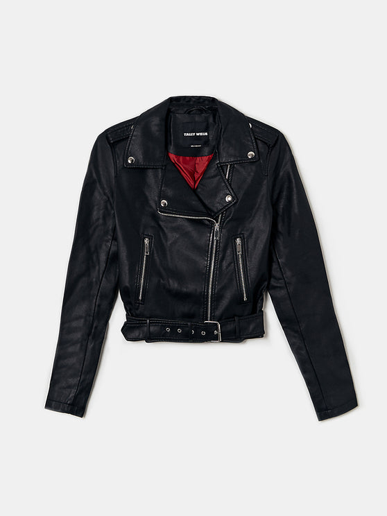 Women's Faux Leather Biker Jacket
