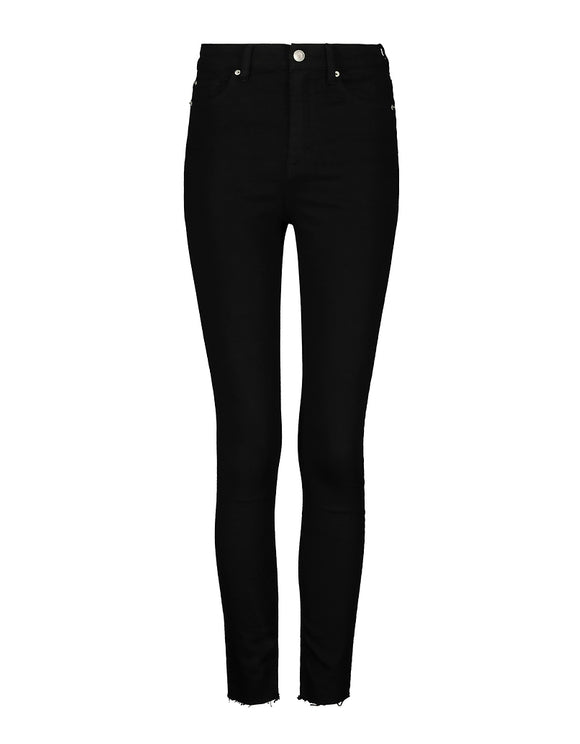 Black Very High Waist Skinny Pants