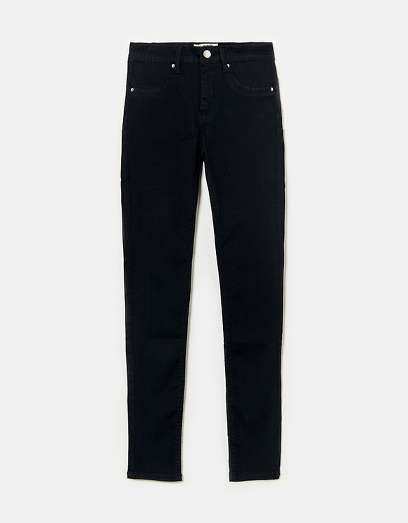 Tally Weijl Black High Waist Skinny Women's Trousers