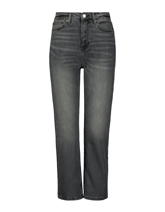 High Waist Straight Fit Black Jeans