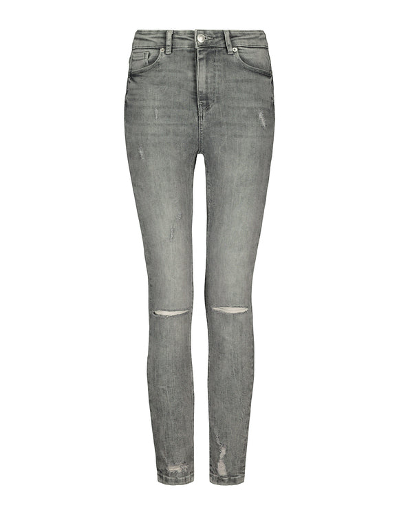High Waist Skinny Cropped Jeans. SPADEREEN-GRY017