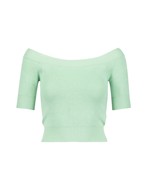 Green Short Sleeves Jumper