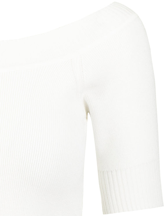 White Short Sleeves Jumper
