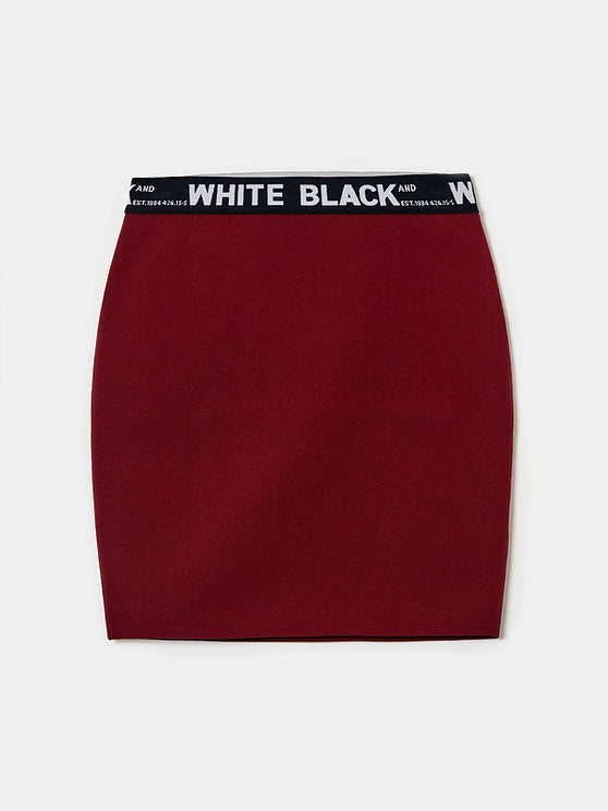 Women's Burgundy Mini Skirt