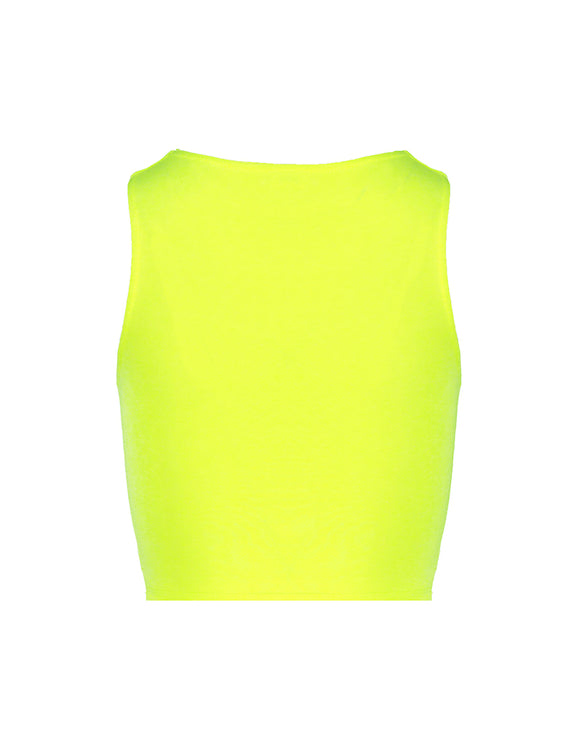 Neon Yellow Front Cut Out Top_back