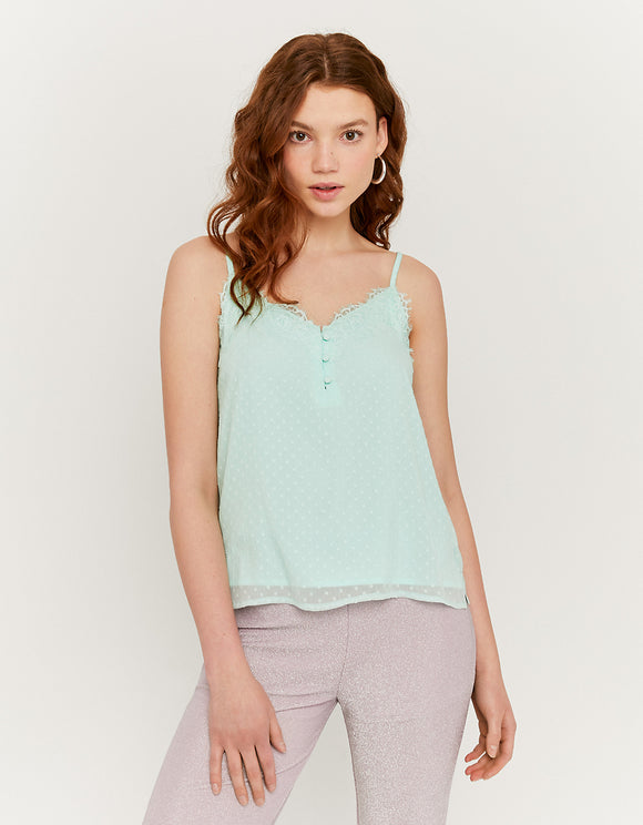 Tank Top with Lace Green