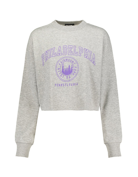 Women's Grey Printed Sweatshirt by Tally Weijl