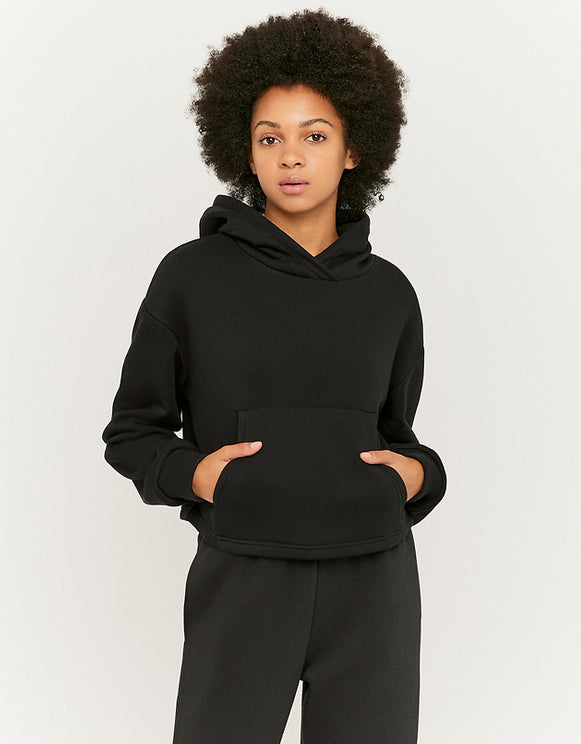 Women's Black Over Head Hoodie - blk001