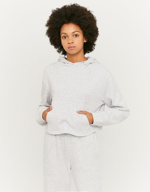 Women's Grey Over The Head Hoodie - gry038