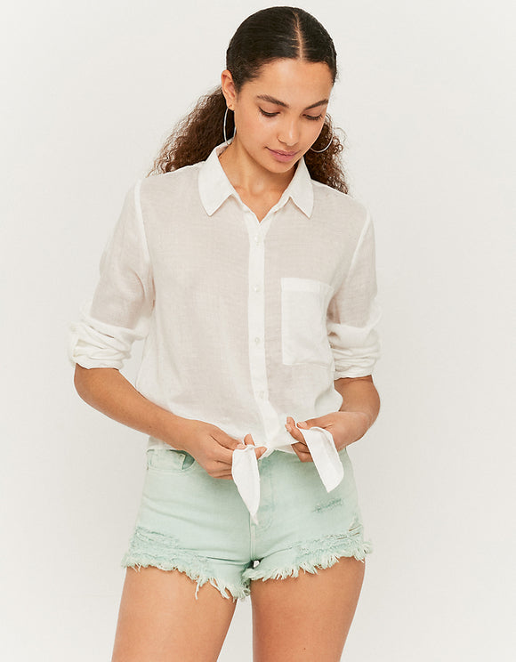 White Knotted Shirt