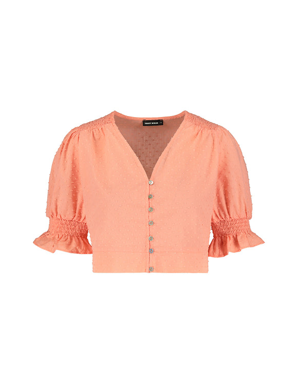Pink Shirred Blouse