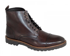 Base London Siege Leather Brown Washed Boot