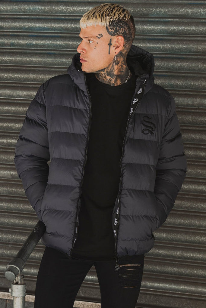 Assault Dark Grey Puffer Jacket