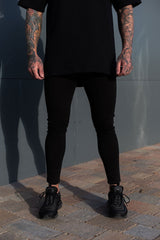 Black Spray On non rip Jeans by Sinners Attire