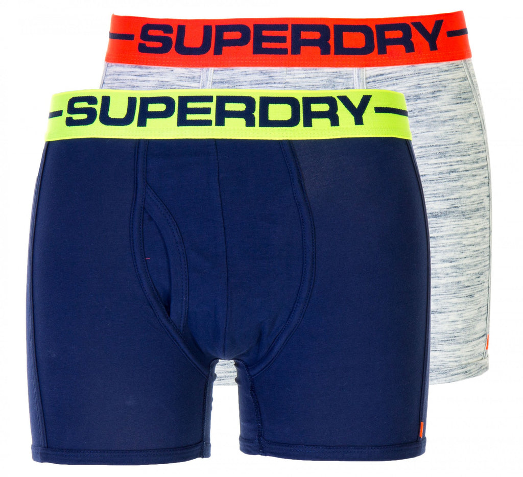 Sports Boxer Double Pack Grey and Navy