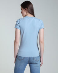 Eduina Blue Short Sleeve Women's Tee