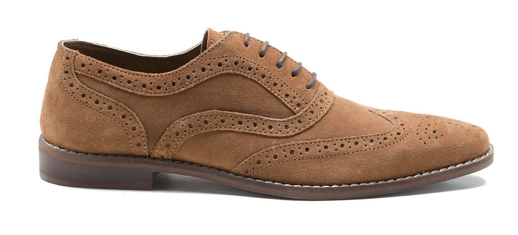 Tan Suede Thorpe Shoe by Redtape