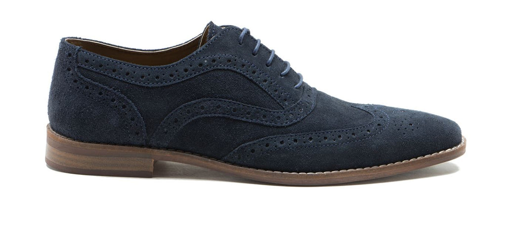 Navy Suede Thorpe Shoe by Redtape
